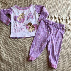 Disney Princess Pajama Set 12mo